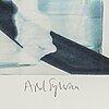 Astrid sylwan, monotypi, signed astrid sylwan in pencil.