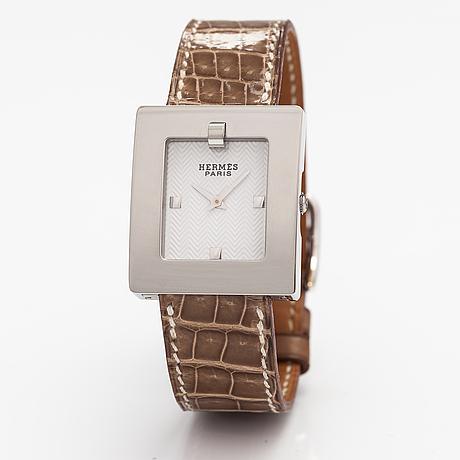 Hermès, belt, wristwatch, 26 x 30 mm.