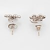 Ole lynggaard,charlotte lynggaard, earrings with brilliant-cut diamonds total ca 0.02 ct.