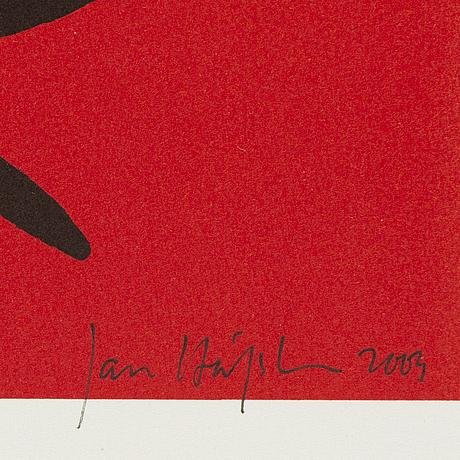 Jan håfström, färglitografi, 2003, signerad 1477/2000.