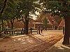 Christian eckardt, park scene from dyrehaven in copenhagen.