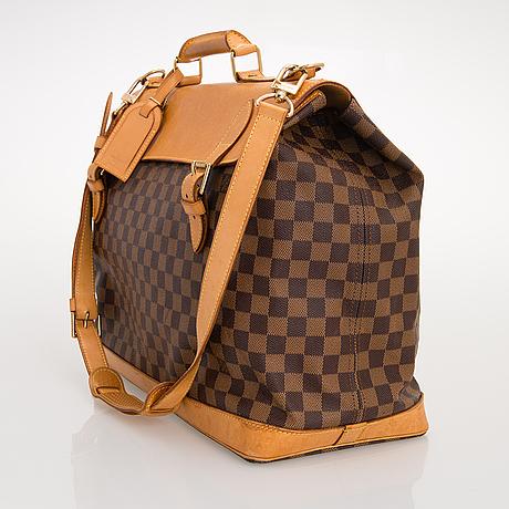 Louis vuitton, limited edition damier canvas centenaire west end travel bag.