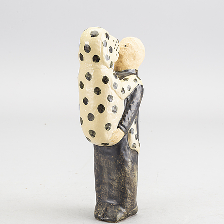 Lisa larson, stoneware, figurin , gustavsberg k-studio signed and numbered.