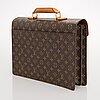 A monogram canvas 'ambassador' briefcase.