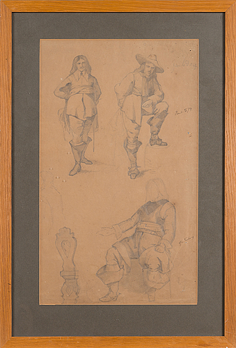 Albert edelfelt, drawing, unsigned.