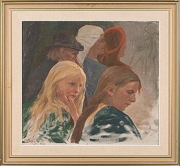 SIGFRID AUGUST KEINÄNEN, oil on canvas, signed and dated 1910.