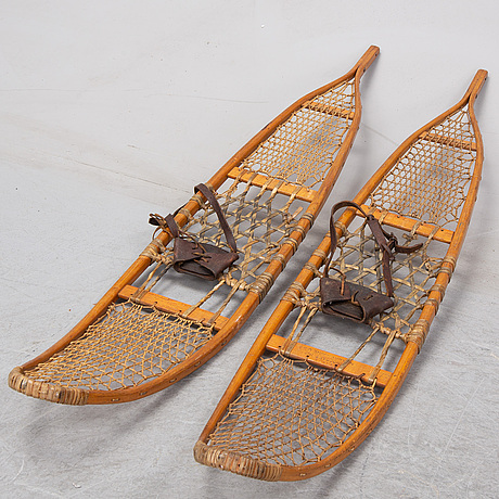 A pair of snow shoes, usa, early 20th century.
