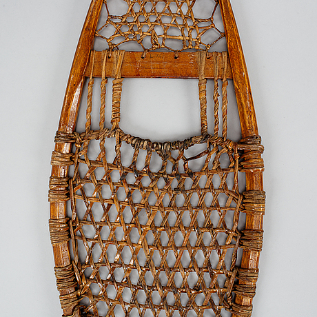 A pair of snow shoes, early 1900's.