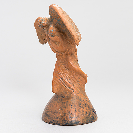 Ville vallgren, terracotta, signed and dated 1937.