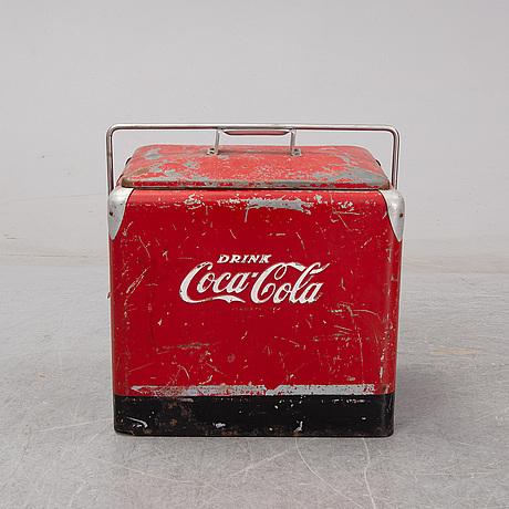 A coca cola ice box mid 1900's.