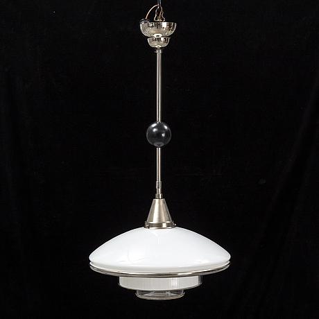 """Otto mÜller, taklampa, """"sistrah-pendel"""", megaphos, 1900-talets första hälft."""