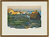 Roland svensson, lithograph in colours, signed and numbered 146/350.