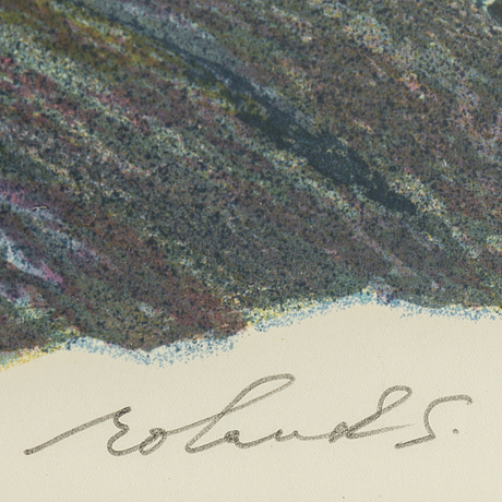 Roland svensson, litograph in colours, signed and numbered 91/460.