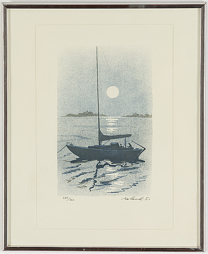 Roland svensson, lithograph in colours, signed and numbered 259/360.