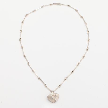 "Björn weckström, a sterling silver necklace ""messenger"". lapponia 1983."