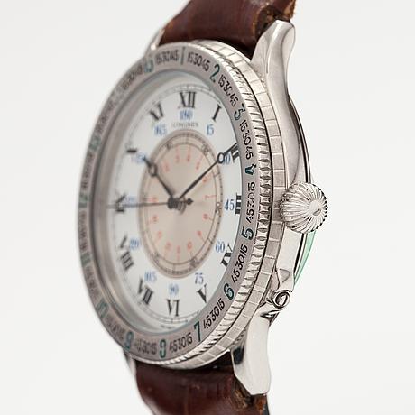 Longines, lindberg hour angle, wristwatch, 38 mm.
