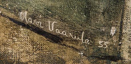 Olavi vaarula, olja på duk, signerad o daterad -55.