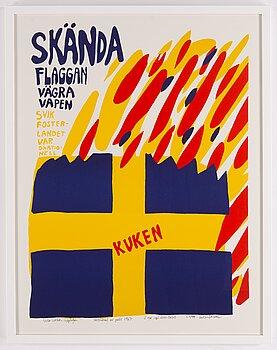 Carl Johan De Geer, silkscreen in colours, signed 57/99.