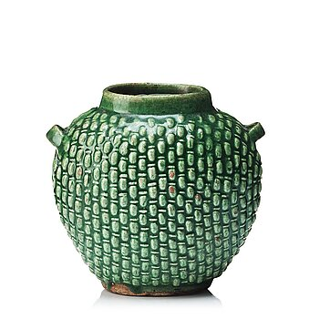 610. A green glaze spice jar, presumably late Ming dynasty.