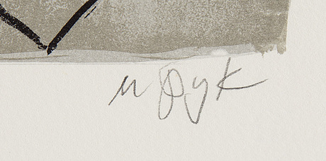 Madeleine pyk, lithograph in colours, signed 4049/5000.
