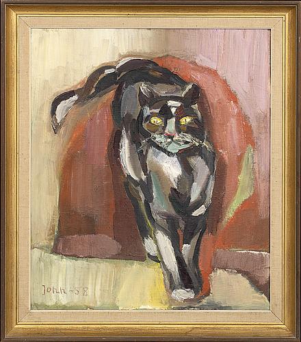 Gunnar jonn, oil on canvas, signed and dated 58.
