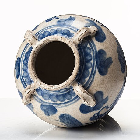 A blue and white jar, south east asia, vietnamn,  17th/18th century.