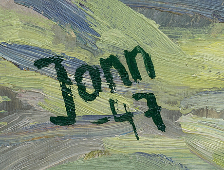 Gunnar jonn, oil on panel, signed and dated -47.