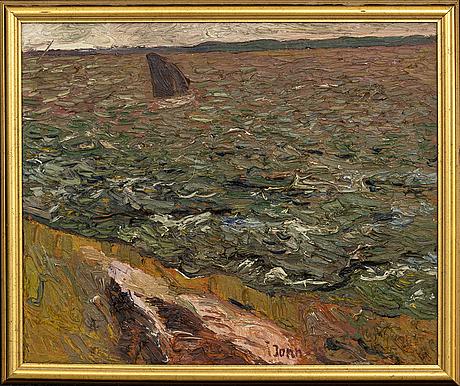 Gunnar jonn, oil on panel, signerad och daterad 45.