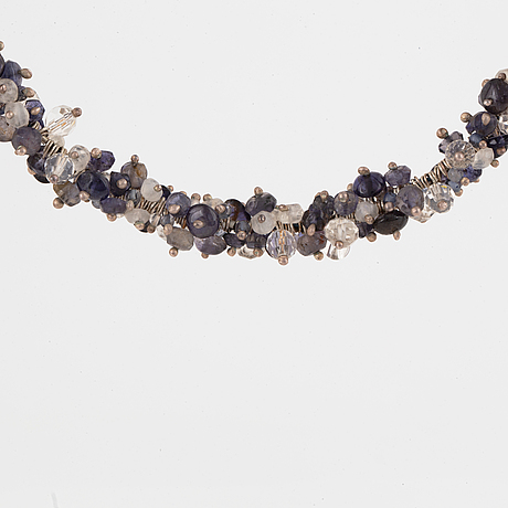 Pernilla sylwan, a semi- precious stones necklace, stockholm 2006.