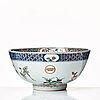 A famille verte punch bowl, qing dynasty, kangxi (1662-1722).
