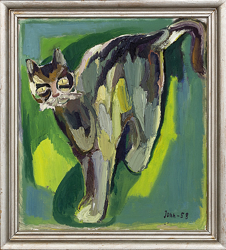 Gunnar jonn, oil on canvas, signed and dated -58.