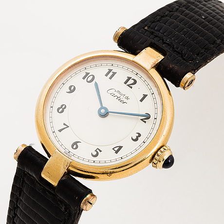 Must de cartier, vlc wristwatch, 24 mm.