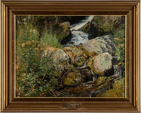 Johan tirÉn, oil on canvas, signed.