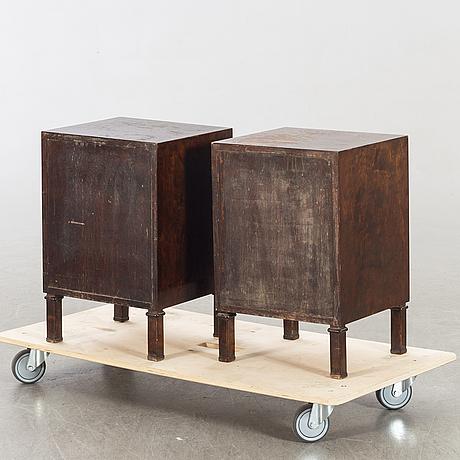 A pair of 1930/40:s axel larsson for smf (svenska möbel fabrikerna) bodafors night stands.