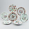 A group of seven odd famille rose dishes, qing dynasty, qianlong (1736-95).