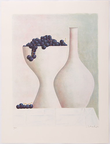 Philip von schantz, lithograph in colours, 1987, signed and numbered 78/125.