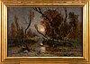 Julius von klever, bridge in autumn landscape.