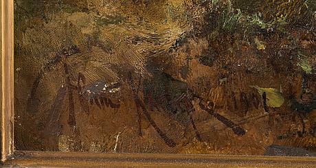Julius von klever, forest pond.