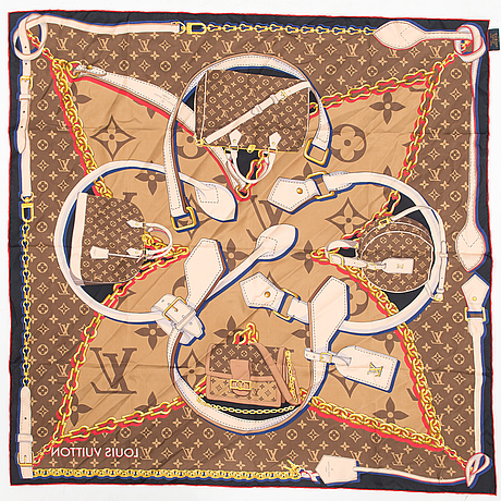 "Louis vuitton,  ""tribute to squares"", scarf."