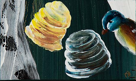 Ernst billgren, oil on relined canvas, signed eb.