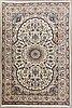 An old nain part sik carpet ca 290 x 196 cm.