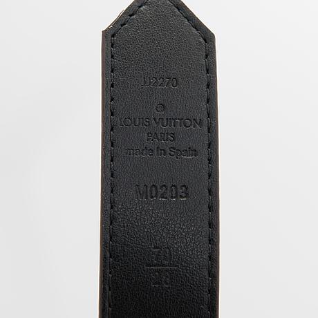 Louis vuitton, a 'dauphine reversable belt, size 70/28.