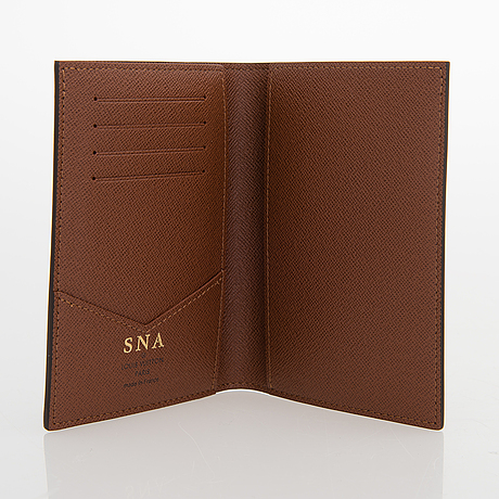 Louis vuitton, monogram canvas 'passport cover' and keypouch.
