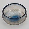 Sven palmqvist, a 'kraka' glass bowl, orrefors.