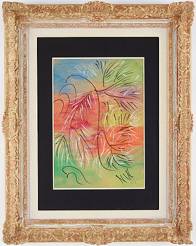 Nell walden, mixxed medio on paper, signed and dated -67.