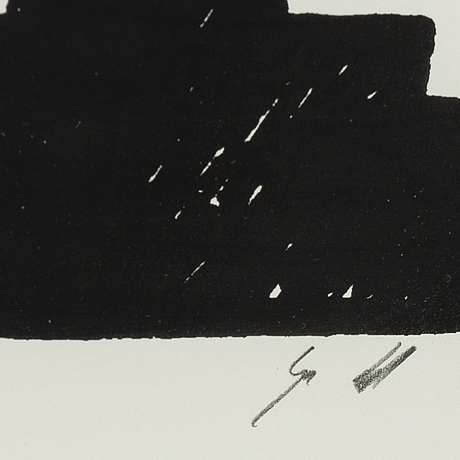 Gunnar lundkvist, silk screen print signed, edition of 25.