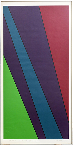 Olle baertling, serigraph in colours signed numbered and dated.