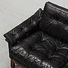 A 'kardinal' leather sofa, ikea, 1960/70s.