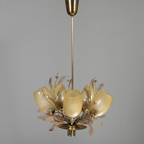Paavo tynell, a mid-20th century '9029/5' chandelier for taito, finland.