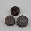 Saltkar, 3 stycken, porfyr,